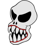 Monster Skull-1 vector