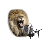 lion_on_mic