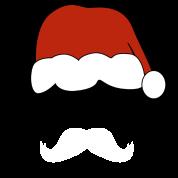 funny santa_mustache t-shirt