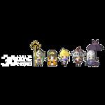 Half Minute Hero characters (White Logo)