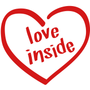 Love Inside - Heart Shaped Logo