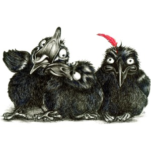 Three Young Crows
