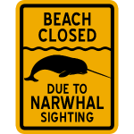 Narwhal Sighting Beach Closed