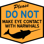 Eye Contact with Narwhals
