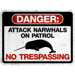 Attack Narwhals on Patrol  - Vintage