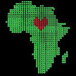 Green Africa Red Heart