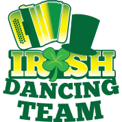 IRISH Dancing team with accordion and hat