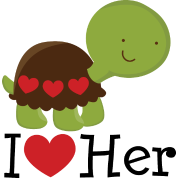 I Love Her Turtle Dating Gift
