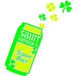 St. Patrick's Green Beer Can Shamrocks