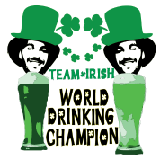 world drinking champion Irish team st.patty's day