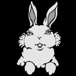 Easter Bunny Cute Pocket Bunny Art