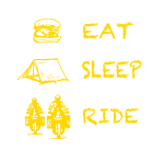 Eat - Sleep - Ride yellow