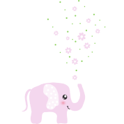 Cute pink elephant cartoon - photo#12