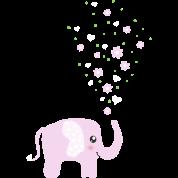 Cute Pink Elephant cartoon