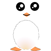 Cute Black Penguin