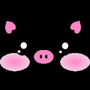 Cute Kawaii Pig face