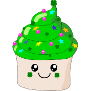 St Patrick's Day Cute Cupcake
