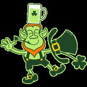 Leprechaun Balancing a Glass of Beer on his Head