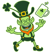 Euphoric Leprechaun Celebrating St Patrick's Day