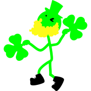 Irish man hold shamrock