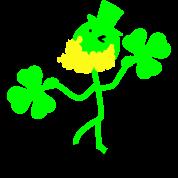 Irish man hold shamrock