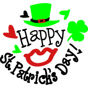 Happy st.Patrick's day sexy lips green hat