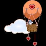 bird in a balloon