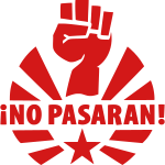 No Pasaran Raised Fist and Star T-Shirts