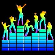 music - sound - equalizer - dancing girls