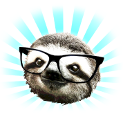 Cute! Hipster Sloth