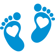Baby - footprint - heart