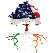 USA Irish Roots American Irish Flag Rooted Shirts