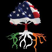 USA Irish Roots American Irish Flag Rooted Shirts