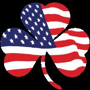 American United States USA Shamrock Flag Shirts