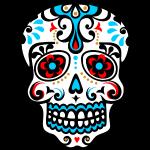 crâne, skull, fleurs, Mexique, modèles, floral,