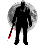 Jason Voorhees under moonlight