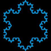 Fractals: Koch snowflake MED-DETAIL (lines)
