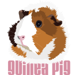 Retro Guinea Pig 'Elsie' (text)