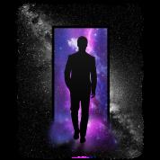 Space Door blackandwhite