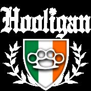 IRISH HOOLIGAN - Brass Knuckle Irish Flag Crest
