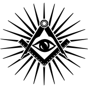 Masonic symbol, all seeing eye, freemason