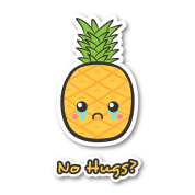 sad but cute pineapple that does not get any hugs