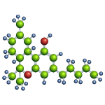 Tetrahydrocannabinol molecule - thc
