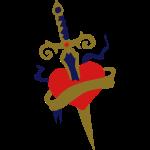 heart dagger tattoo patjila2