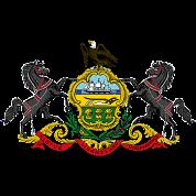 Pennsylvania Distressed Flag Clothing Apparel Tees