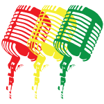Reggae-Colored Microphones in a classic design