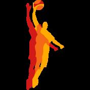 Basketball player with a basketball