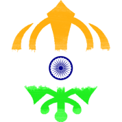 Indian Flag Khanda (Sikhism)