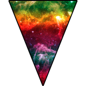 Colorful Space Triangle