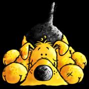 """Aron"" - Airedale Terrier - dog cartoon"